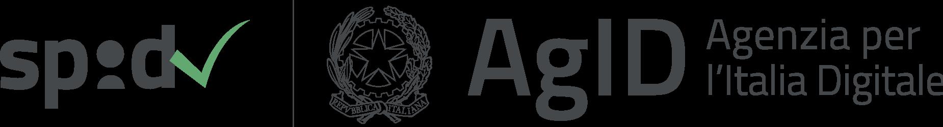 logo SPID Sistema Pubblico di Identità Digitale e di AgID Agenzia per l'Italia Digitale del Governo Italiano (fonte impresainungiorno.gov.it)